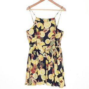 Gianni Bini Molly Botanical Fruit Print Dress